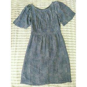 Banana Republic Blue Short Sleeve Silk Dress